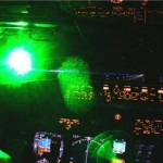 240513 News. Photo off net. Laser pointer being aimed at a plane cockpit.