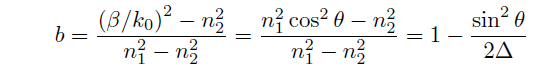 規格化伝搬定数b