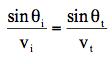 Hecht Formula 4.4.1屈折の法則(番号なし)