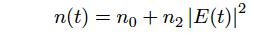 光カー効果による屈折率の時間変化