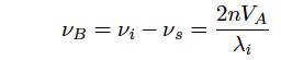入射光とストークス光の波長の差分