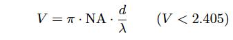 コア径d とコア のNA の関係