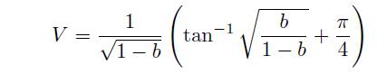 規格化伝搬定数bとVパラメータ